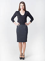 Женская деловая юбка-карандаш с карманами