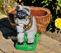 Подставка для цветов кашпо Ослик малый, фото 2