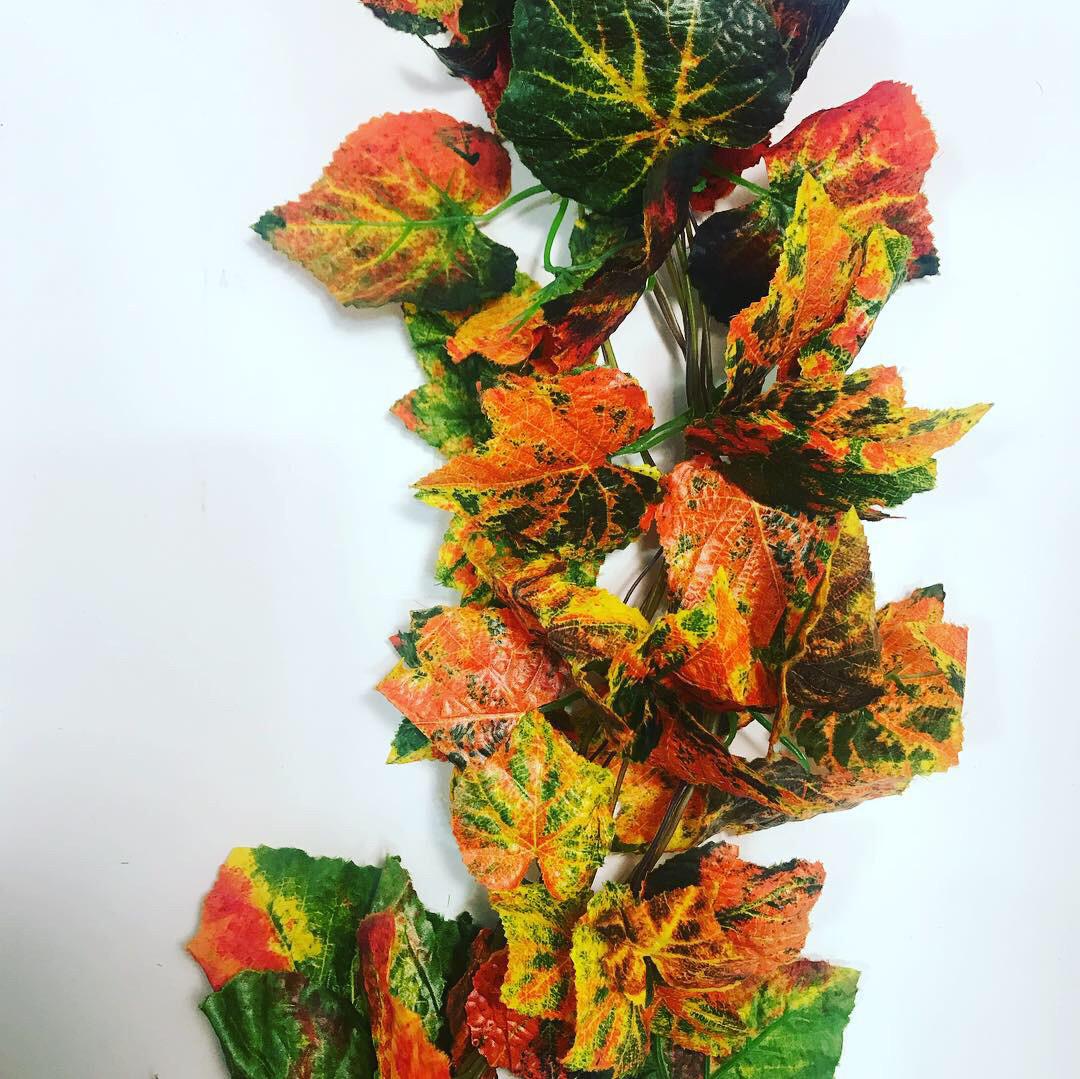 Лиана осенняя.Искусственная, осенняя,виноградная Лиана (14 метров)