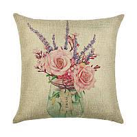Декоративная подушка Розовый букет 45 х 45 см Berni