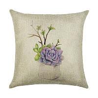 Декоративные подушки Фиолетовый цветок 45 х 45 см Berni