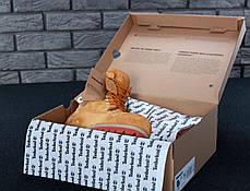 Мужские ботинки на натуральном меху Timberland рыжие топ реплика, фото 3