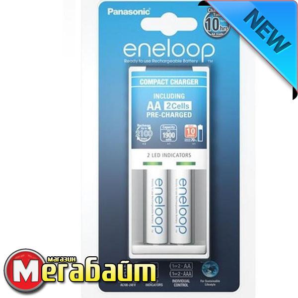 Зарядное устройство Panasonic Compact Charger + Eneloop AA/HR06 NI-MH 1900 mAh BL 2 шт
