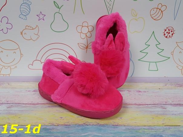 """Детские теплые комнатные тапочки меховые """"Зайчики"""" для девочки ярко-розовые"""