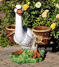 Подставка для цветов кашпо Утка с корзинами, фото 2