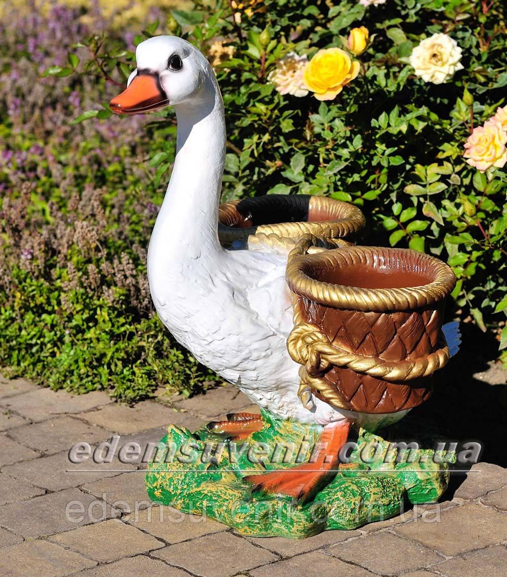 Подставка для цветов кашпо Утка с корзинами