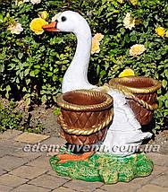 Подставка для цветов кашпо Утка с корзинами, фото 3