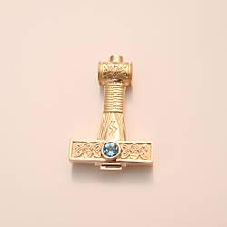 """""""Молот Сварога"""" - славянский оберег из золота 585 пробы"""
