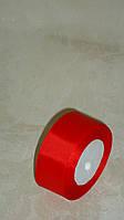 Лента репсовая 4 см красного цвета