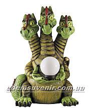 Садовая фигура Змей Горыныч с фонарем, фото 2