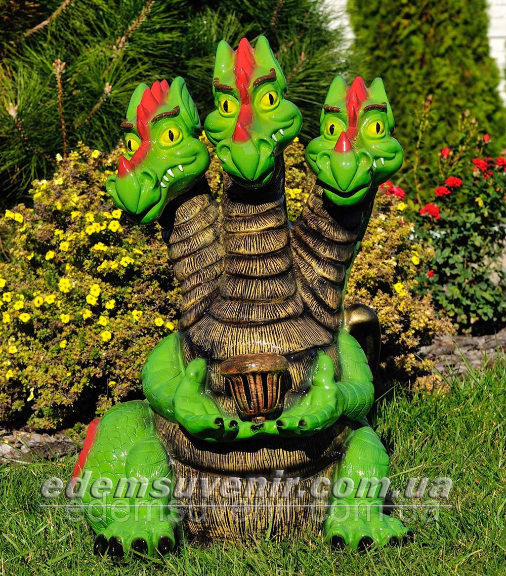 Садовая фигура Змей Горыныч с фонарем