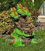 Садовая фигура Змей Горыныч с фонарем, фото 3