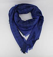 Большой кашемировый платок Louis Vuitton 7988-11 синий двусторонний, расцветки, фото 1