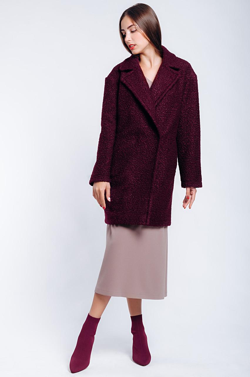 Стильное женское демисезонное пальто двубортное