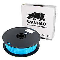 Пластик для 3D печати Wanhao PLA, 1.75 мм, 1 кг, голубой (ID:16373)