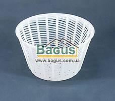 Форма для сыра Рикотта пластиковая 0,5л (d-12,5см, h-7см)