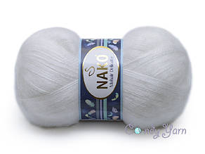 Nako Mohair Delicate, Белый №06101