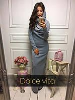 Женское теплое платье длинное с капюшоном(2 цвета), фото 1