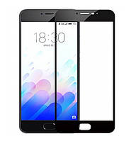 Защитное стекло 3D Full Cover для Meizu M5 Black (Screen Protector 0,3 мм)