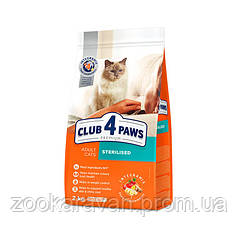 Сухой корм Клуб 4 лапы для кастрированных и стерелизованных кошек, 14 кг