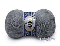Nako Mohair Delicate, Светло-серый меланж №06128