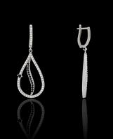 Серебряные сережки длинные