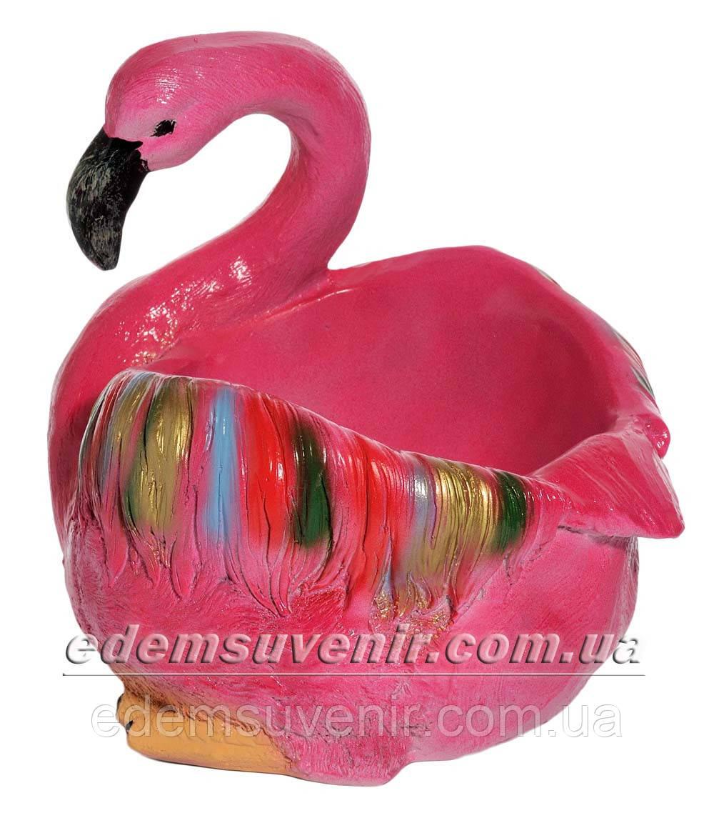 Подставка для цветов кашпо Фламинго