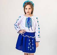 """Український костюм """"Орнамент"""" (біло-синій), фото 1"""