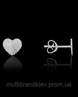 Серебряные сережки сердце