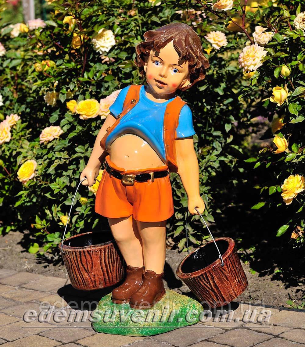 Подставка для цветов кашпо Мальчик с ведрами