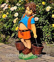 Подставка для цветов кашпо Мальчик с ведрами, фото 2