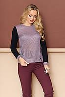 Блуза  с имитацией застежки-завязки , фото 1