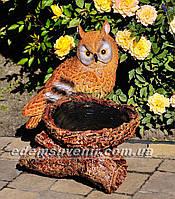 Подставка для цветов кашпо Сова у гнезда