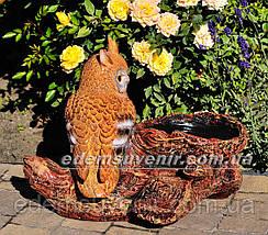 Подставка для цветов кашпо Сова у гнезда, фото 3
