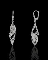 Серебряные сережки спираль