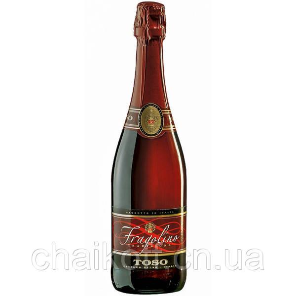 Вино игристое Toso Fragolino Rosso 0.75 л  (Италия) оригинал