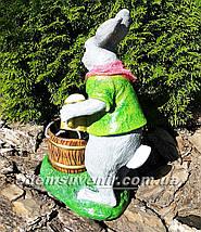 Подставка для цветов кашпо Заяц садовник, фото 3