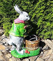 Подставка для цветов кашпо Заяц садовник, фото 2