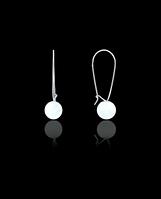 Серебряные сережки шарики