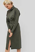 Женское трикотажное платье с поясом из основной ткани (Evilo crd), фото 3