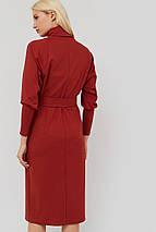 Женское трикотажное платье с поясом из основной ткани (Evilo crd), фото 2