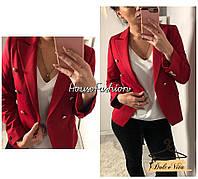 Женский стильный пиджак с декоративными пуговицами (3 цвета)