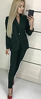 Женский брючный костюм с лампасами из ткани джерси, фото 1