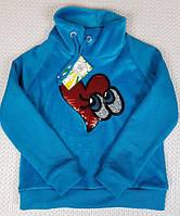 Подростковый  теплый батник на девочку р. 134-152 голубой, фото 1