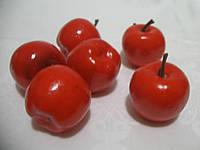 Яблоко красное ( декоративное, мини 3 см, 6 шт) 22\20 (цена за 1 шт. +2 грн.)