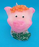 Свеча декоративная Свинка малая символ 2019 г  размер Качество