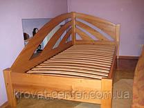 """Деревянная угловая кровать """"Радуга"""" (200*90), массив - ольха, покрытие - """"лак"""""""
