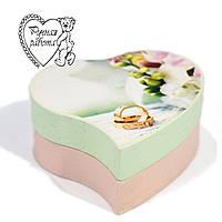 Скринька для кілець Сердечко 7 см