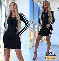 Женское спортивное платье с лампасами, фото 1