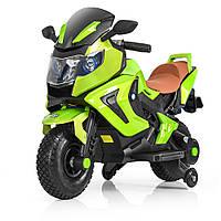 Детский мотоцикл BMW M 3681 ALS-5: 36W, надувные колеса, кожа - Зеленый (Покраска)- купить оптом, фото 1